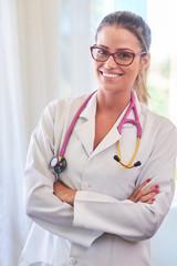 Beautiful young brazilian doctor portrait