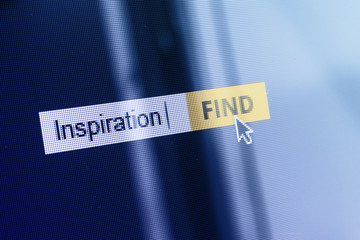 Inspiration concept online search box