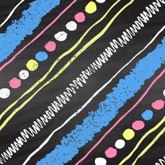 Color chalk seamless pattern