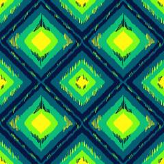 Geometric ethnic ornament ikat pattern seamless