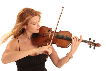 Professionelle Geigenspielerin