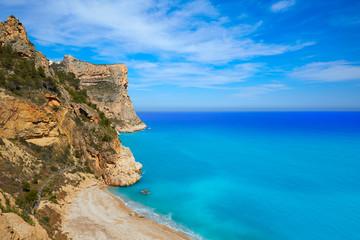 Cala del Moraig beach in Benitatxell of Alicante