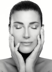 Beauty Face Spa Woman. Skincare and Anti Aging Concept