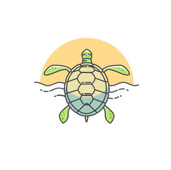 Vector turtle icon.