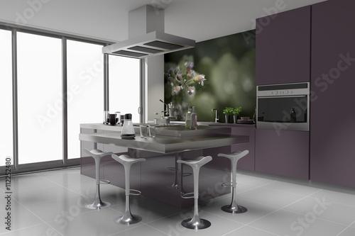 modern k che einbauk che violett mauve flieder. Black Bedroom Furniture Sets. Home Design Ideas