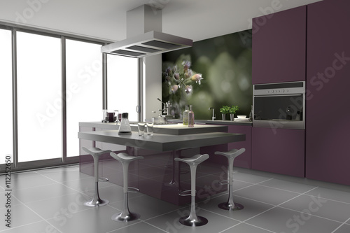 modern k che einbauk che violett mauve flieder. Black Bedroom Furniture Sets. Home Design Ideas