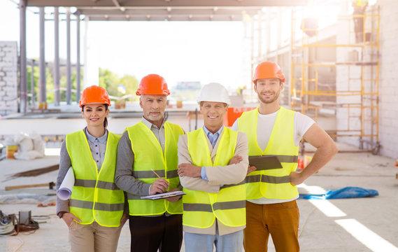 Construction worksers. Best team
