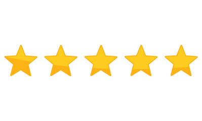 Star Rating zero up to five Wall mural