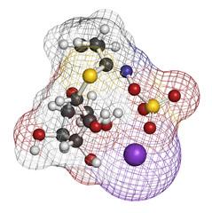 Sinigrin glucosinolate molecule.