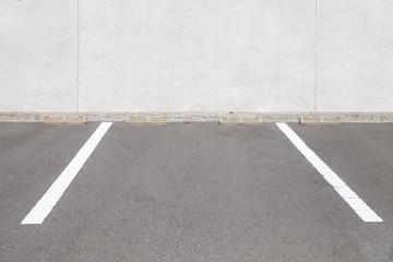 Empty outdoor car parking space , Car parking lot area