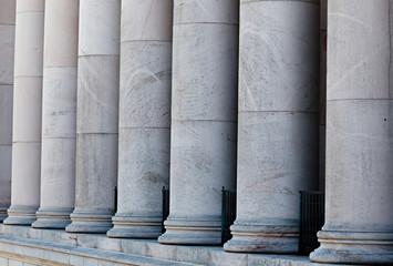 Doric stone columns.