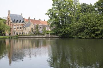 Bruges, Belgium, Minnewater lake