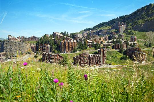 the mountain summer resort of Avoriaz, France