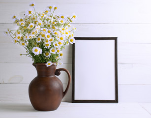 Daisy bouquet with motivational frame