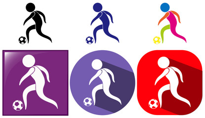 Icons design for soccer