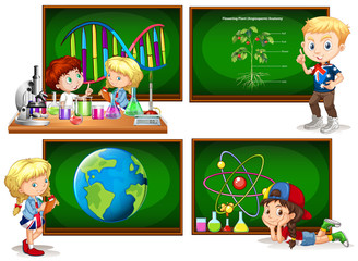Children and different school subjects