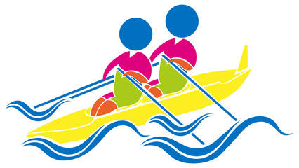 Sport icon design for kayaking