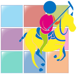 Sport icon design for equestrian