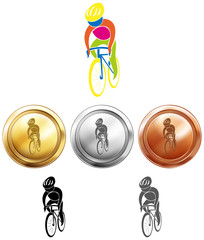 Cycling and three medals