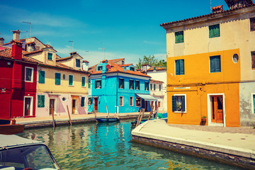 Burano Island near Venice, Italy