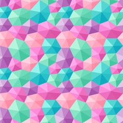 Mixed hexagons three dimensional shading multicolor pastels