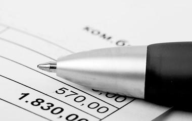 closeup of us tax forms