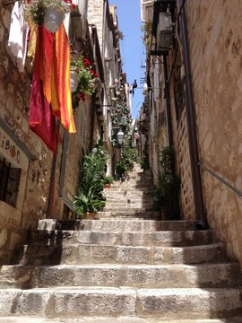Treppe in Dubrovnik, Kroatien