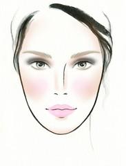 makeup ideas for image. perfect woman face. makeup artist. fashion illustration