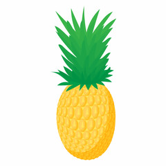 Pineapple icon in cartoon style