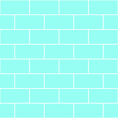Blue Mint Brick Wall Seamless Vector illustration Background