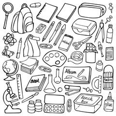 School doodle set