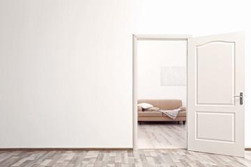 Open door in the room