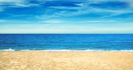 sea sand sky and summer day , summer season ,summer background