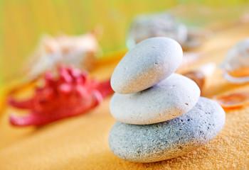 Photo sur Aluminium Zen pierres a sable background