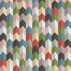 3d retro geometric seamless pattern with arrows