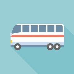 Bus vector, public transportation icon, flat design