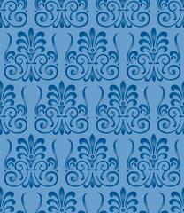 Damascus Vintage vector seamless pattern