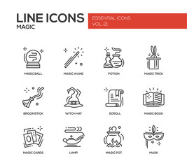 Magic - line design icons set