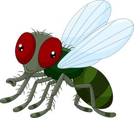 Cute little cartoon flies