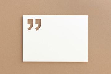 Zitat Vorlage - Zettel mit Anführungszeichen