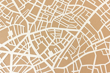 Stadtplan Straßenkarte Struktur als Papierschnitt