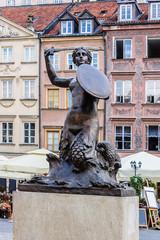 Mermaid (Syrena) - symbol of city of Warsaw, Poland.
