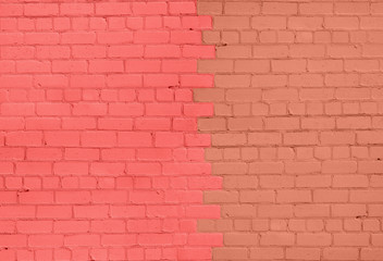 Carmine and Brown Brick Wall