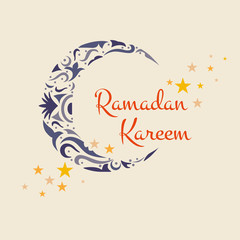 Happy Ramadan Kareem, greeting background illustration