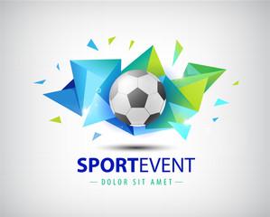 Vector logo football, championships soccer. isolated.