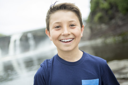 close up of a cute 8 year old boy