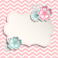 Shabby Chic Template With Flowers Illustration