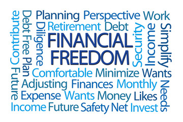 Financial Freedom Word Cloud
