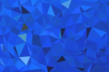 blue geometric rumpled triangular low poly origami style gradien