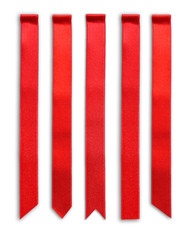 Red ribbons isolated on white
